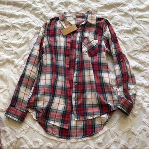 Red & white checkered flannel from Francesca's